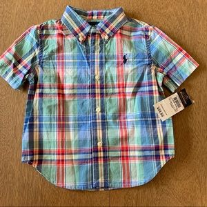 🏇🏼 2/$20 Ralph Lauren Plaid Shirt 18m